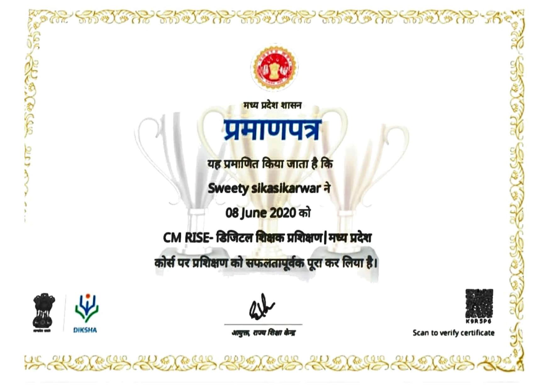 Ms. Sweety Sikarwar