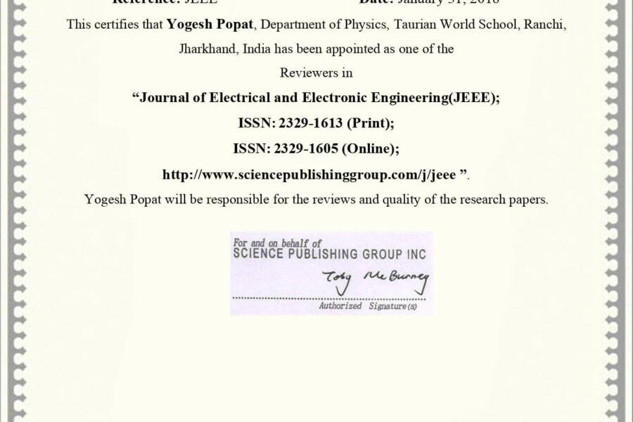 Mr. Yogesh Popat
