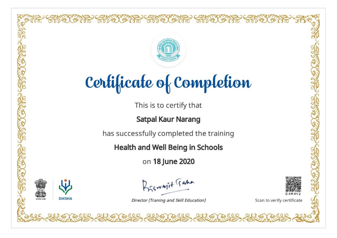 Ms. Satpal Kaur Narang